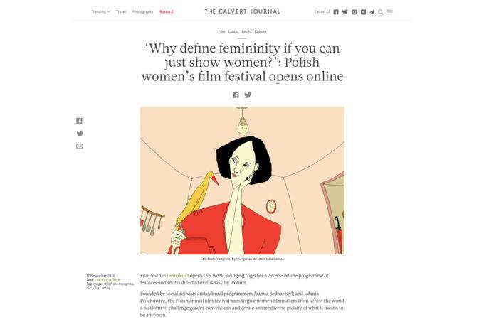 The Calvert Journal Article